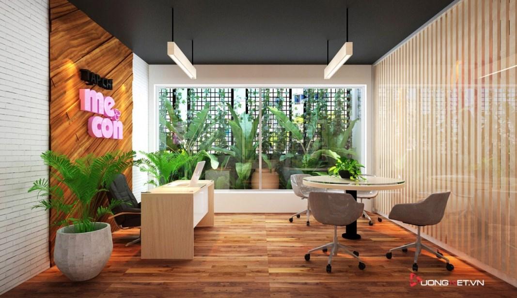 Thiết kế nội thất sáng tạo tại công ty truyền thông Mẹ & Con 1