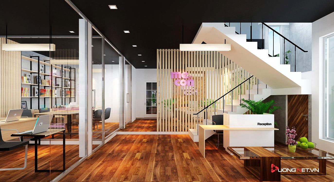 Thiết kế nội thất sáng tạo tại công ty truyền thông Mẹ & Con