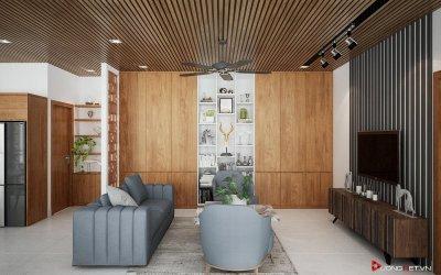 Nguyên tắc thiết kế phòng khách trong xây dựng nhà tối giản