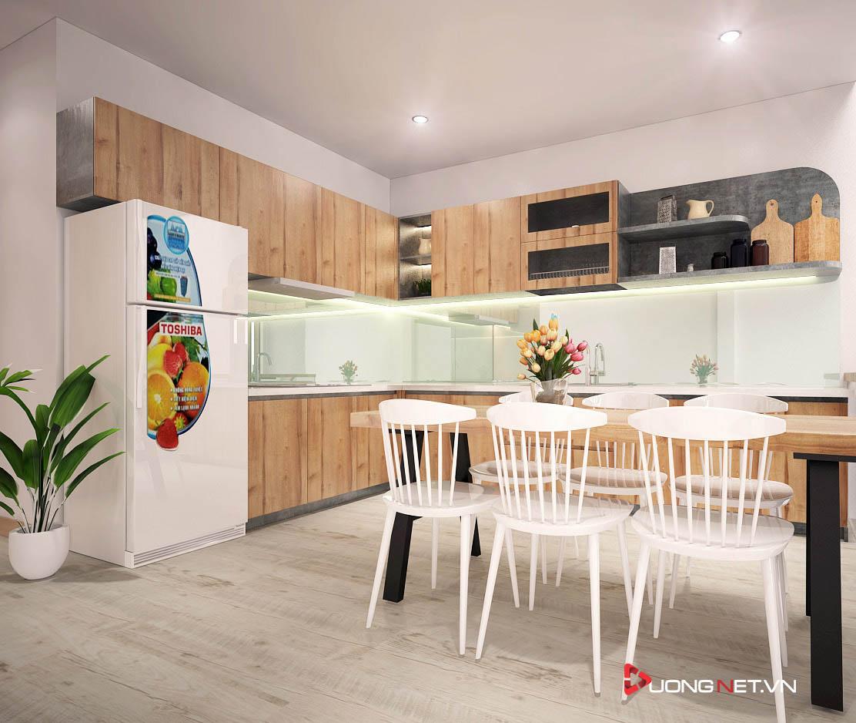 Nội thất tối giản phòng bếp