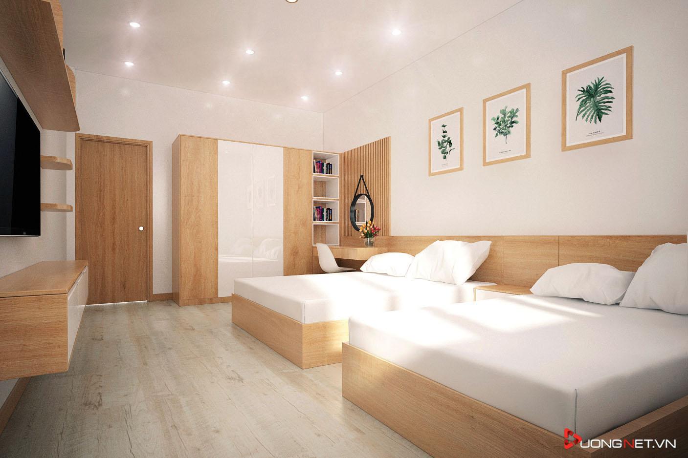 Nội thất tối giản phòng ngủ