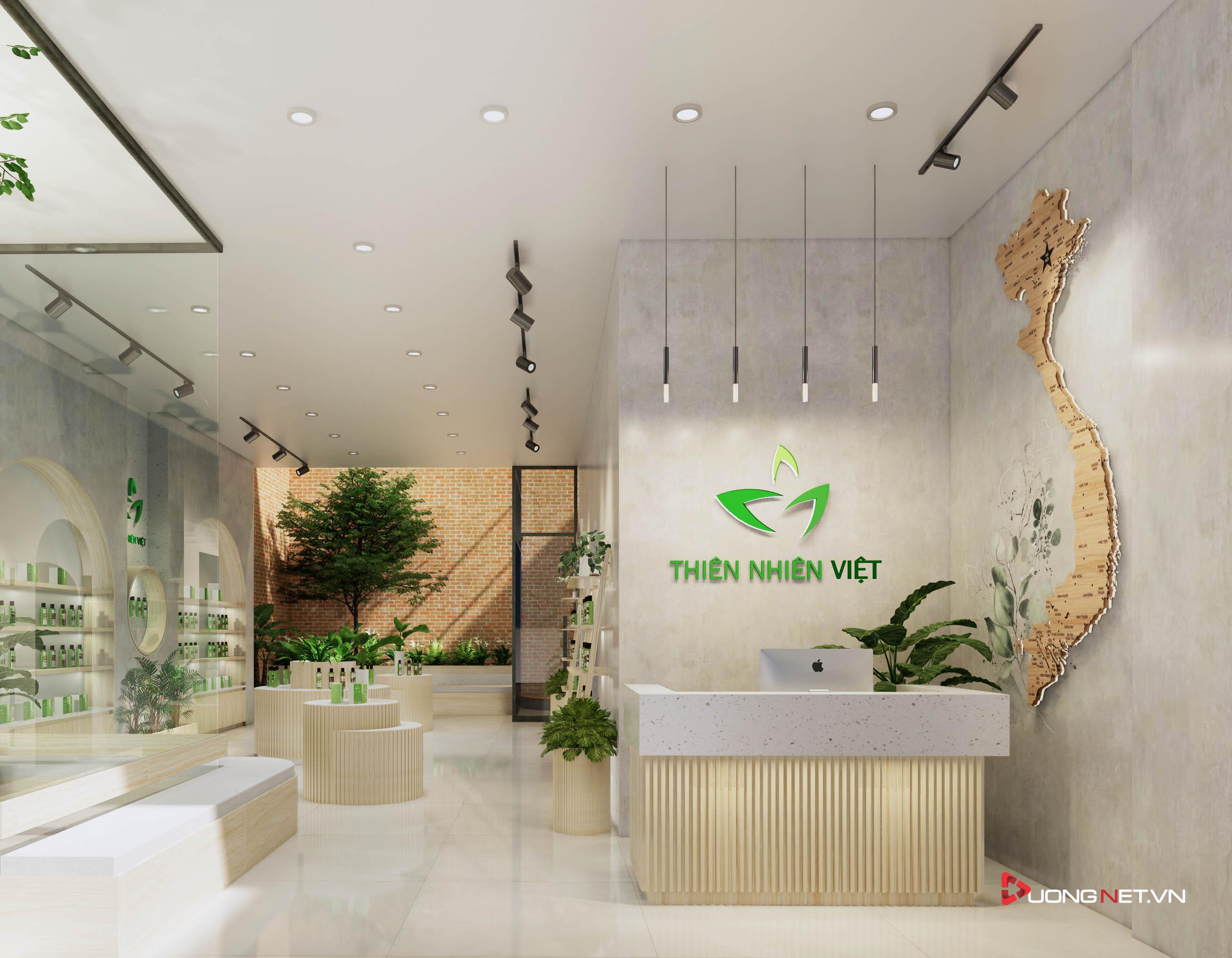 Thiết kế nội thất sáng tạo văn phòng 5 tầng Thiên Nhiên Việt