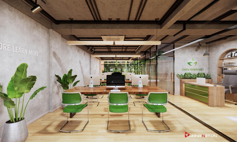 Thiết kế nội thất sáng tạo văn phòng 5 tầng Thiên Nhiên Việt 2