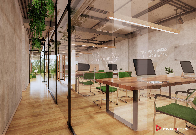 Thiết kế nội thất sáng tạo văn phòng 5 tầng Thiên Nhiên Việt 3