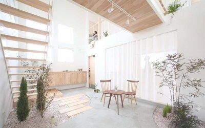 Thiết kế không gian xanh với mẫu nhà phố tối giản Kofunaki