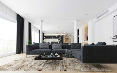 Vật liệu sử dụng trong thiết kế nhà tối giản